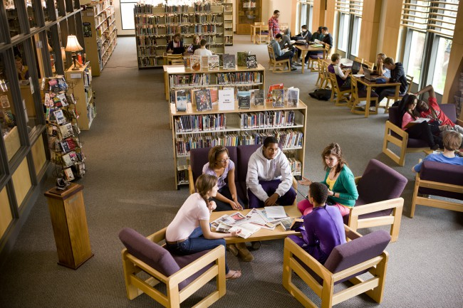 A-public-library-is-a-building-where-things-such-as-books-newspapers-videos-and-music-are-kept-for-people-to-read-use-or-borrow.